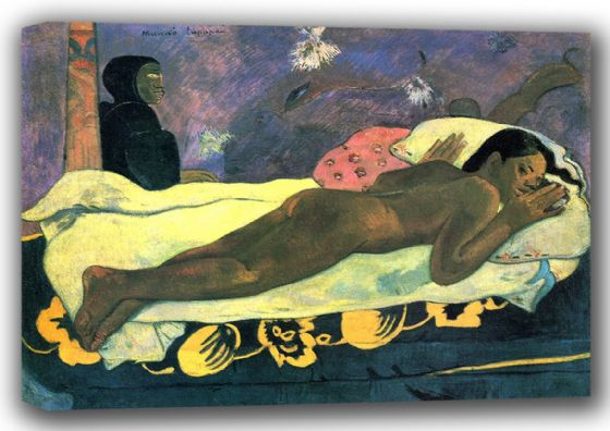 Gauguin, Paul: Manao Tupapau (The Spirit of the Dead Watches). Fine Art Canvas. Sizes: A4/A3/A2/A1 (001536)